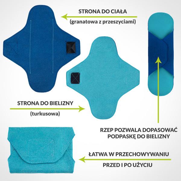 Reusable panty liner - LONG