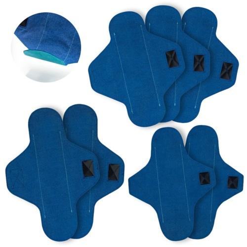 ZESTAW STARTOWY: 3 x wielorazowa podpaska NORMAL, 2 x wielorazowa podpaska LONG, 2 x wielorazowa wkładka LONG | Loffme.com